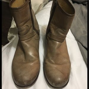 Frye Boots. Taupe color.